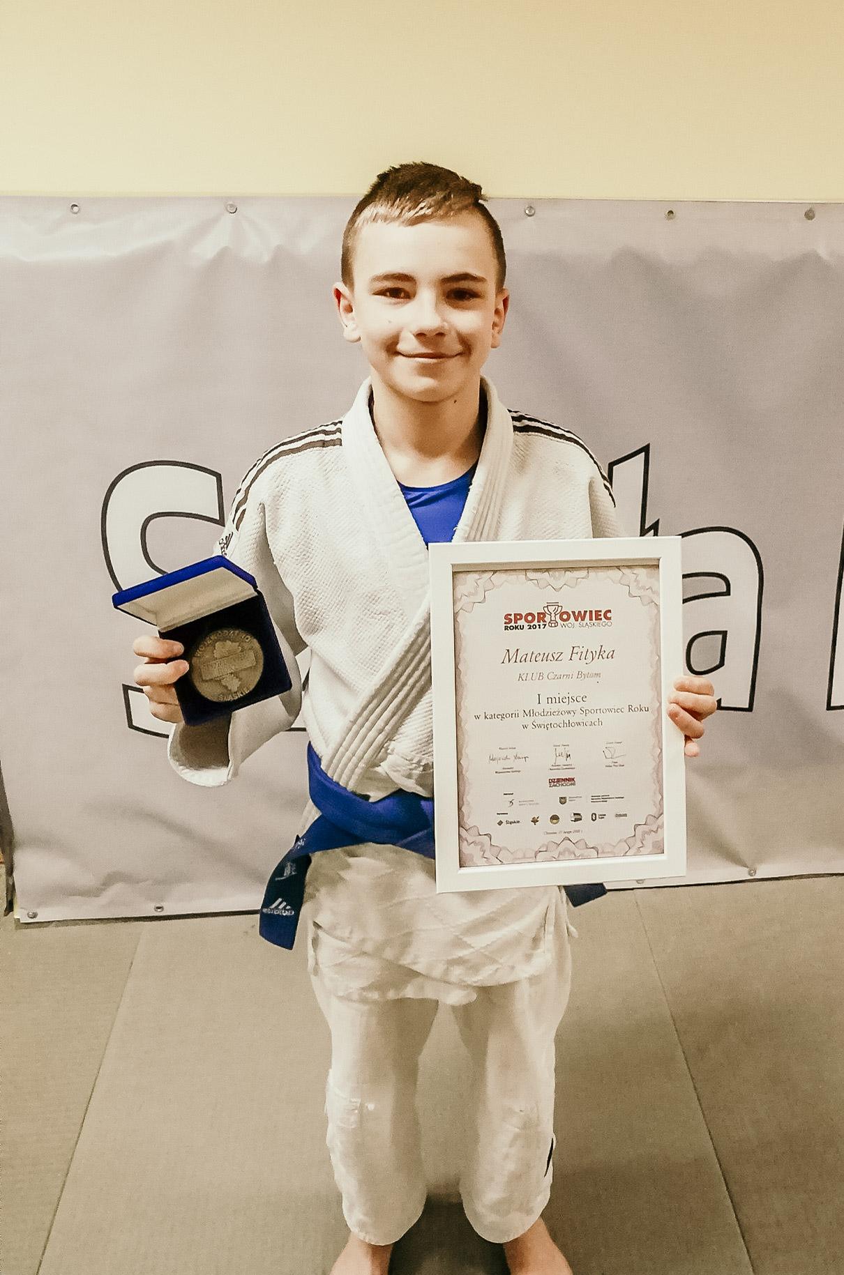 Mateusz Fityka nagrodzony przez prezydenta miasta Świętochłowic