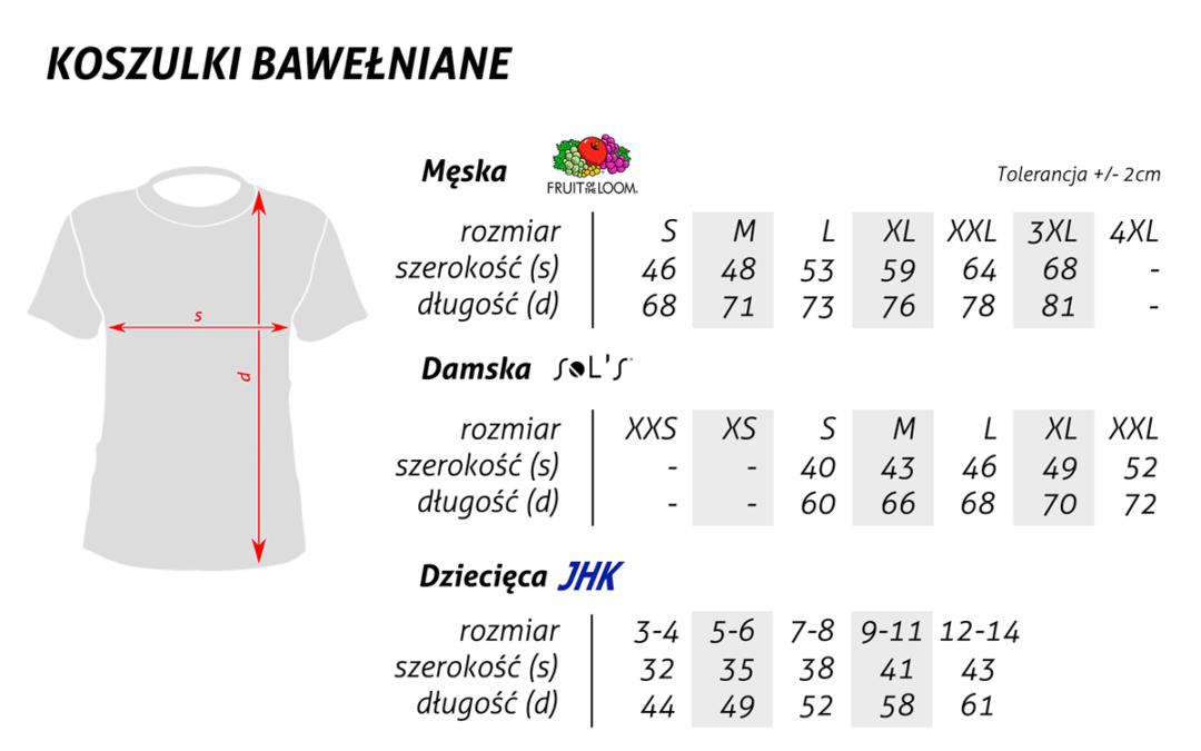 Informacja o bluzach i koszulkach klubowych
